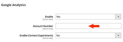 Magento 2 admin store google analytics